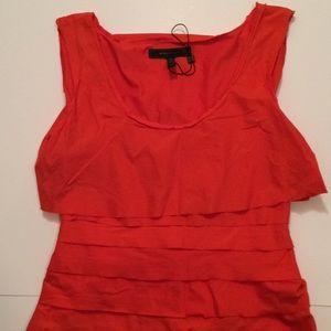 $18 bcbg max Azria dress nwot burnt orange